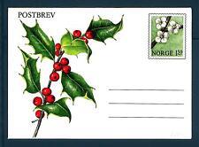 NORWAY - NORVEGIA - 1981 - BUSTALETTERA - 1,50 kr - Agrifoglio con frutti rossi