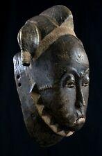 Art Africain Tribal Arte Africano - Masque Facial Baoulé - Afrique - 37 Cms