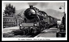 1977  --  TRAIN VAPEUR  UN RAPIDE VINTIMILLE PARIS EN GARE DE CANNES   3M916