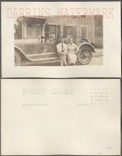 Vintage Car Photo Postcard Man & Woman w/ Mystery Speedster 720763