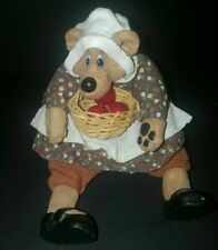 Russ Berries Critter Factory Kathy Critters Bear with Basket of Berries Apples