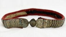 Old Silver Ottoman Macedonian Greek Folk Stones Handmade Belt Buckle Antique VTG