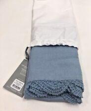 Restoration Hardware Hand-Crocheted Linen-Cotton Std Pillowcase (1) Ocean $45