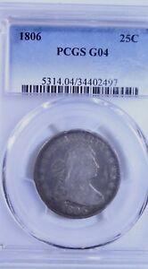 1806 Draped Bust Quarter : PCGS G04