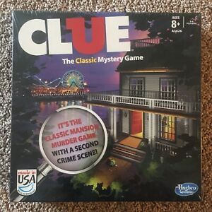New Clue Board Game 2013 Edition W/2 Versions Classic Mansion Game And Boardwalk