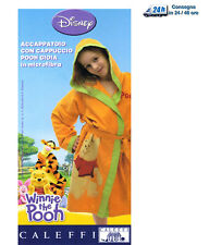 Accappatoio Microfibra Winnie The Pooh Cappuccio tg 2-4-6 Arancio Caleffi Disney