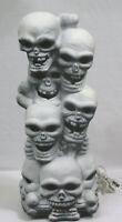 Vintage Halloween Skull Tower Blow Mold Light Trendmasters 1993 Works !