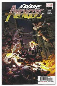 Savage Avengers #21 2021 Unread Valerio Giangiordano Main Cover Marvel Comic
