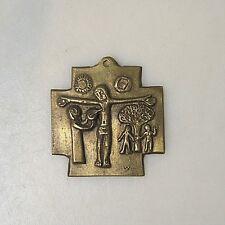 Sammlungsauflösung religiöse Volkskunst hochwertiges Kreuz Wandkreuz Bronze (18)