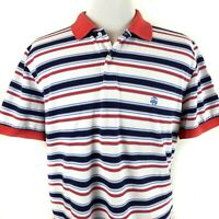 Brooks Brothers 1818 Performance Polo XL Slim Fit Shirt Striped Red White Blue