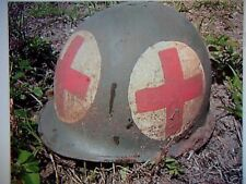 WWII Medic 4 Panel Military ARMY Helmet