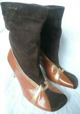 RED Or DEAD Brown/Tan Suede/Leather Calf Boots uk size 6