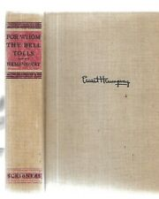 For Whom The Bell Tolls. by Ernest Hemingway. N.Y. 1940. 1st ed.