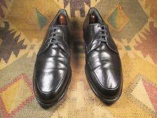 WEYENBERG ''MASSAGIC''  4 Eyelet Norvegian Apron Black Calfskin Oxfords Size 14D