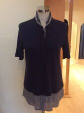 Riani Top Size 18 BNWT Navy Winter White Silver RRP £135 Now £60