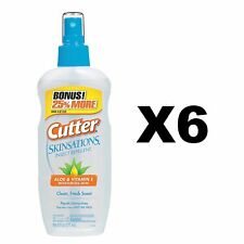 Cutter Skinsations Insect Repellent 6oz Pump Spray 7 DEET Bonus Size (4-pack)