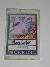 Rare Zz Top Working Laminate Pass Mescalero Tour