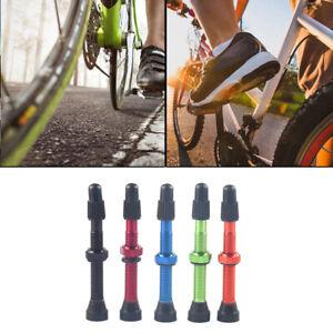 2pcs 60mm Alloy Stem Presta Ventil + Werkzeug für Road MTB Bike Tubeless Reifen