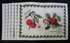 NEW PORTMEIRION Fabric Placemats Apple & Apricot Set of 6