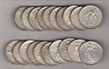 spècial investisseur lots  20 x 5 francs semeuse argent cours  704  euro kilos