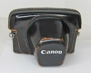 Canon Fitted Case for FT or FTb  or TL Film Cameras LEATHER OEM genuine JAPAN