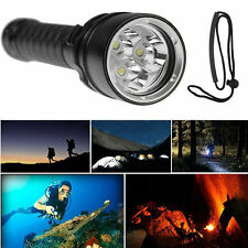 3000LM 3x CREE XML L2 LED Waterproof Scuba Diving Underwater Flashlight Torch