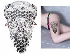 Birds Black Henna 3D Temporary Henna Tattoos Style Body Hand Transfer Tattoo