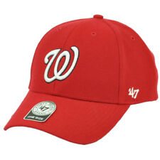 fb548a8aa95 MLB 47 Forty Seven BRAND Washington Nationals Red Hat Cap Adjustable Curved  Bill