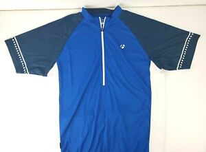 Bontrager Mens Short Sleeve Blue 1/2 Zip Cycling Jersey Size XL