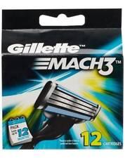 12x Gillette Mach3 Rasierklingen-Cartridge Rasierklinge Rasur Closer mehr Komfor