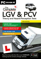 COMPLETE LORRY BUS COACH LGV & PCV THEORY AND HAZARD PERCEPTION TEST 2021 PC BOX