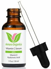 Amara Organics Vitamin C Serum Face 20% Hyaluronic Acid & Vitamin E SHip World