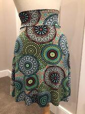 Salaam High Waist Flippy Skirt, NWT, Green Blue Multi Color, XS