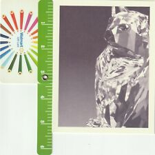 Original Swarovski Silver Crystal November Birthday Card Cat Rare