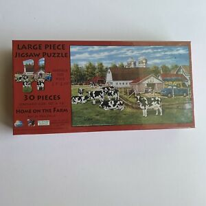"""Home On The Farm 30 LARGE Piece Puzzle-Art By Ken Zylla 10"""" X 16"""" Finished Size"""