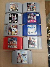 Lot of 9 Nintendo 64 N64 Sports Cartridge Game FIFA NFL Racing