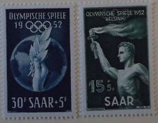 Saar Stamp B89-90 MNH  Cat $12.00 Sports, Olympics, Topical