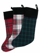 Ralph Lauren Plaid Christmas Stockings Green/Red/White