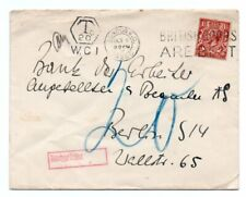 GREAT BRITAIN: Cover London to Germany 1926, postage due.
