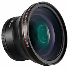 52mm 0.43x Hd Wide Angle Lens With Macro Close-up Portion Lens No Distortion Dig