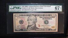2009 CLEVELAND $10 Dollar PMG SUPERB GEM UNC 67 EPQ Fed Res STAR NOTE $10 BILL!
