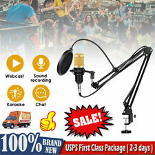 BM800 Condenser Microphone Kit Studio Pro Audio Recording Stand Shock Mount Set