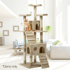 Cat Tree Scratcher Condo 180cm Tall Large Giant Beige Eco Friendly Non Toxic