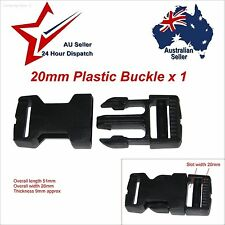 "20mm Black Plastic Side Release Buckle X 1 (3/4"") 20 Mm Cord Webbing Strap Clip"
