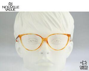 Nouvelle Vague Maila P2 Vintage 80s yellow tortoise cat eye glasses frames women