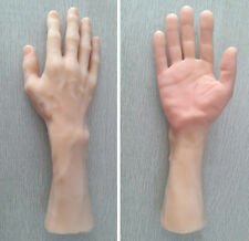 1 Pair Male Hand Bended Fingers Mannequin Display Left Right Hand Skin Colour
