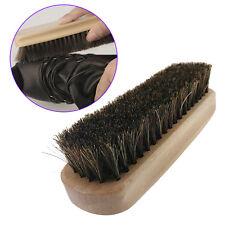 Wooden Handle Shoes Shine Brush Polish Bristle Horse Hair Buffing Brush