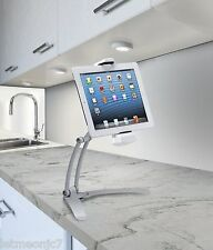 iPad Galaxy Kindle Tablet Holder Stand Counter Wall Mount Kitchen Adjustable Arm