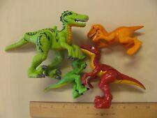 Lot of Dinosaur Action Figures Figurines Colorful Raptors