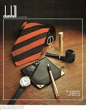 PUBLICITE ADVERTISING 116  1978  Dunhill London  portefeuille pipe cravate